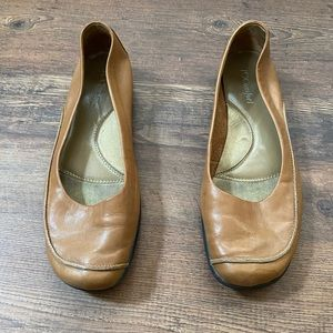 I Love Comfort Women's Flats in Brown Leather 8.5M